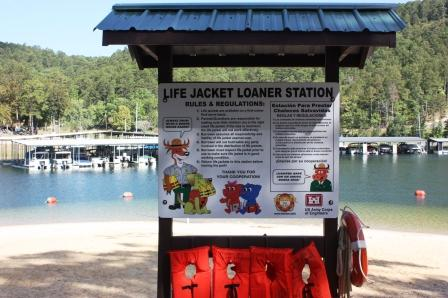 Lifejacket Loaner Station at Spillway Day Use