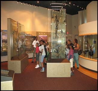 Children enjoying a tour of the JBJW Visitor Center