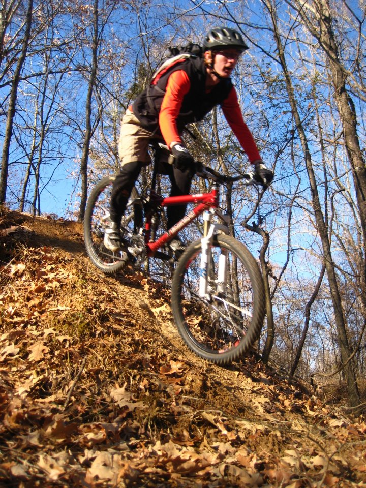 Mountain Bikers on Bike Trail