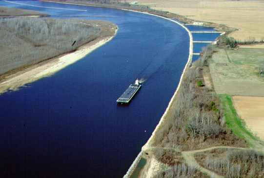 Barge in the Red River Channel
